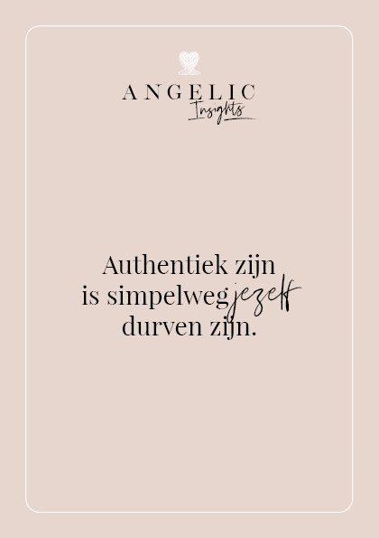 Authentiek zijn is simpelweg jezelf durven zijn